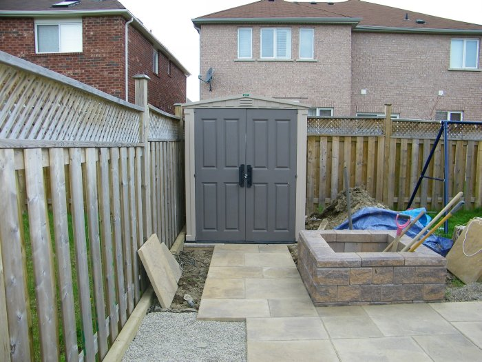 2008 2009 diy backyard patio project part 5 tree shed